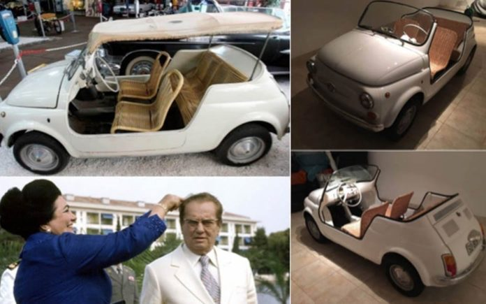 Tito's Toy – Ex-President Tito 1964 Fiat 500 Jolly Economical by Ghia to be auctioned on 18th May 2017 by Coys of Kensington at their Royal Horticultural Halls sale in Westminster, London, SW1 – Estimate £70,000 to £100,000 ($90,500 to $129,300, €83,200 to €118,900 or درهم332,400 to درهم474,800)