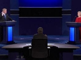 Trump's hiding – Donald Trump loses to Hillary Clinton in the first of a series of presidential debates