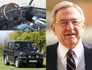 Constantine's Wagen – Former His Majesty King Constantine II of Greece (born 1940) Mercedes-Benz G-Wagen GE500 for auction – Silverstone Auctions – Classic Race Aarhus 2016 sale in Denmark – 28th and 29th May 2016 – £15,000 to £18,200 ($21,800 to $26,400 or €19,000 to €23,000)