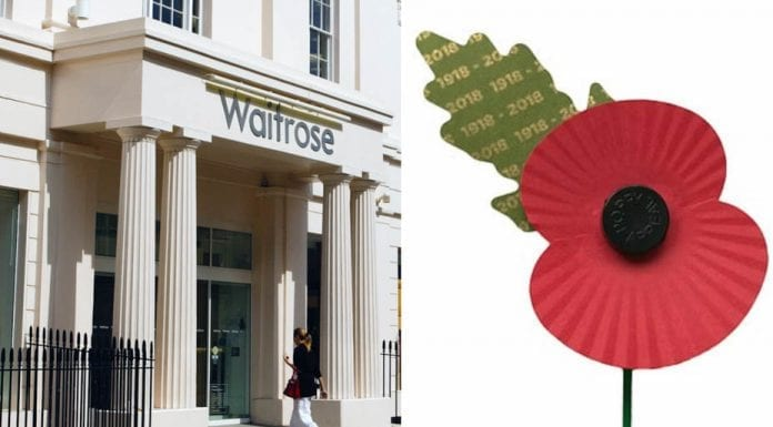 Waitrose Wake-Up – Waitrose Belgravia cave in and start selling poppies – Waitrose Belgravia respond to 'The Steeple Times's' expose of their not selling Royal British Legion poppies and allow them into their store.