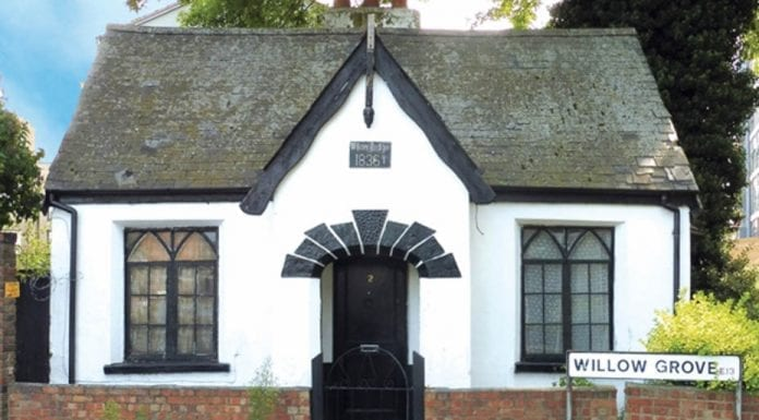 A Cheap Cottage – Grade II listed Willow Lodge, 2 Willow Grove, Plaistow, London, E13 0JH – Guide price of £180,000+ ($237,000+, €198,000+ or درهم871,000+) through Savills on Monday 25th September 2017 at The Marriott Hotel in Grosvenor Square, Mayfair, W1.