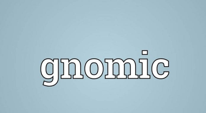 Word of the Week – Our word of the week just had to be… Gnomic