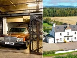 A Cottage or a Cage? £375,000 for a farmhouse vs. same sum for a cage – Knightsbridge 'cage' in an underground car park for sale for the same price as a 6 bedroom former farmhouse in 1 acre in Scotland.