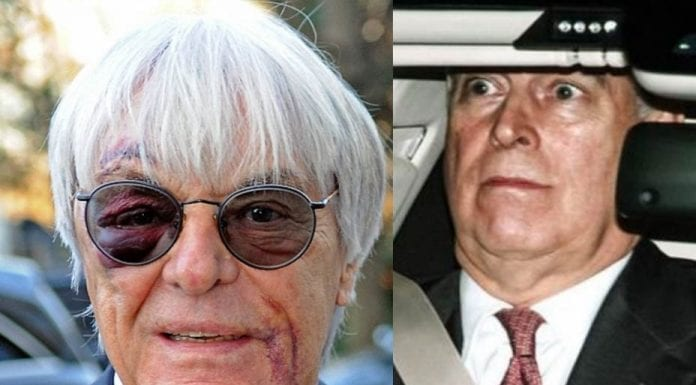With Friends Like These… Bernie Ecclestone and the Duke of York – That Prince Andrew decided to share his birthday with the skinflint Bernie Ecclestone shows the new low he has reached.
