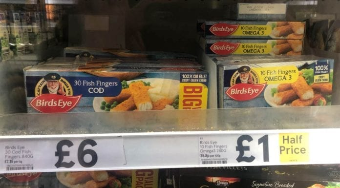Picture of the Week – A Fish Finger F**k Up – As coronavirus panic buying hits supermarkets, Tesco show they've lost the plot when it comes to pricing Birds Eye fish fingers.