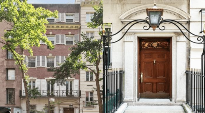"""A Borderline Bonfire Bargain – 77% off 29 Beekman Place, NYC – Manhattan mansion listed for 77% less than in 2014 in """"bankruptcy sale;"""" £9.22 million ($11.45 million) for 29 Beekman Place, Midtown East, Manhattan, New York, NY 10022, United States of America through Compass in 2020 down from £40.2 million ($49.9 million) in 2014. Built in 1934 for CBS chief executive William S. Paley. Home to Albert and Mary Lasker and Princess Ashraf Pahlavi. Murders of Nancy Titterton, Dr Fritz Gebhardt and Thomas Gilbert, Sr."""
