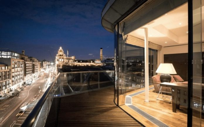 A Price-Cut Penthouse – £16 million for Sixth and Seventh Floor Penthouse at Collier House, 163 – 169 Brompton Road, Knightsbridge, London, SW3 1PY, United Kingdom through Merchants Row – Vast Knightsbridge penthouse for sale for 27% less than the £22 million sum in 2012 but extraordinarily 6,900% more than the £230,000 sum in 1999. Near Harrods and Brompton Oratory.