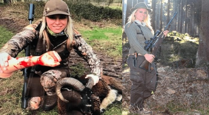 """Moron of the Moment – Sheep shooter Larysa Switlyk – """"Bitch of the first order"""" Larysa Switlyk takes to Instagram during the coronavirus lockdown to brag about her latest massacres; this moronic monster previously paid to shoot sheep in England."""