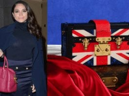 "Handbagged by Meghan – Meghan Markle handbag for sale – Handbag created by Louis Vuitton to ""celebrate"" the marriage of Meghan Markle to Prince Harry to be auctioned for a crazy sum. Fellow Auctioneers are selling the lot in their online 8th June 2020 sale and have set an estimate of £12,000 to £18,000 ($15,100 to $22,700, €13,500 to €20,200 or درهم55,500 to درهم83,300)."