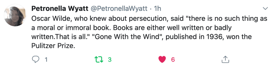 """Quote of the Week – Wilde Morality – Journalist and author Petronella Wyatt is spot on in quoting Oscar Wilde on morality in art; """"books are either well written or badly written,"""" they are not """"moral or immoral."""""""