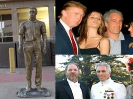 Remembering Jeffrey Epstein Albuquerque Style – Statue of late billionaire sex beast Jeffrey Epstein mysteriously appears outside City Hall in Albuquerque, New Mexico (and is promptly removed by officials).