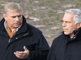 Questioning Randy Andy – Protest against Prince Andrew – Friend of deceased paedophile and mucky madam Prince Andrew targeted in a protest outside Buckingham Palace; 'Randy Andy' now needs to do the decent thing and answer the FBI's questions.