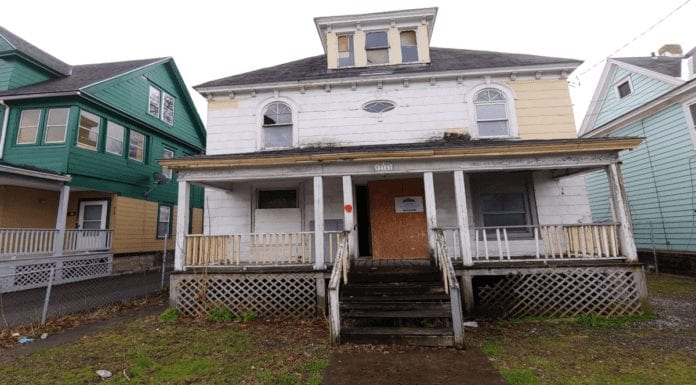 A Hair of a Dog of a House – £744 for detached house at 214 Colvin Street East, Brighton, Southside Syracuse, New York State, NY 13205, United States of America through Greater Syracuse Land Bank – Detached Edwardian house in New York State for sale for just £744 or 8,400% less than it cost to build in 1906; it is in the place of Tom Cruise's birth and was home to a famous German police dog in the 1920s.