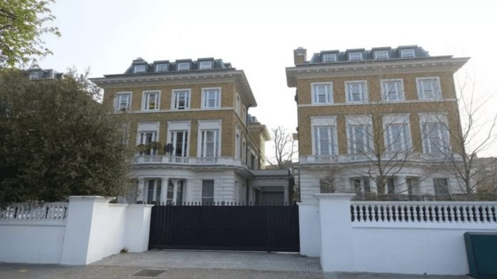 A Pyrotechnic Pad – £50 million for mansion in Boltons Place, The Boltons, London, SW10 – Mansion in controversial compound in The Boltons, SW10 for sale for £50 million; the setting has seen court cases and pyrotechnic parties. Agent: Berkeley Private Capital.