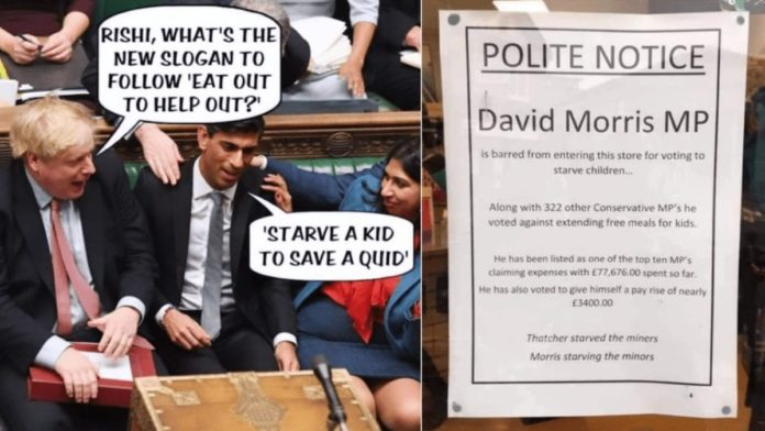 Starve a Kid to Save a Quid – Marcus Rashford/free school meals debacle slammed – 'Starve a Kid to Save a Quid' goes viral in the wake of the government's disastrous attempt to starve poor school kids.
