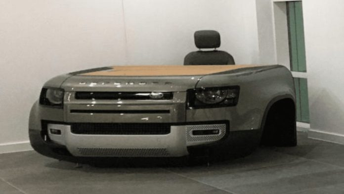 A Defender Desk – Jaguar Land Rover Defender desk for £10,000 – As more and more people work from home, how about an unusual desk? Jaguar Land Rover have made one out of a Defender and it'll set you back a pretty penny – An estimate of £5,000 to £10,000 ($6,700 to $13,300, €5,600 to €11,100 or درهم24,500 to درهم48,900) by Bonhams and proceeds from the auction of the item at Bicester Heritage on 11th December 2020 will benefit the StarterMotor and NSPCC Boole House charities.