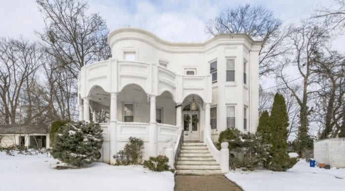 "A Christmas Nightmare – 26 Cloverdale Avenue, Upper Darby, Delaware County, Pennsylvania, PA 19082, United States of America – Listed for sale for £221,000 ($300,000, €246,000 or درهم1.1 million), a sum 512% higher than the sale price twenty years prior, through Howard Hanna Real Estate Services in December 2020 – ""Mini castle"" in Pennsylvania goes on sale for 512% more than it sold for in 2000 in spite of its decoration being nightmare nasty."