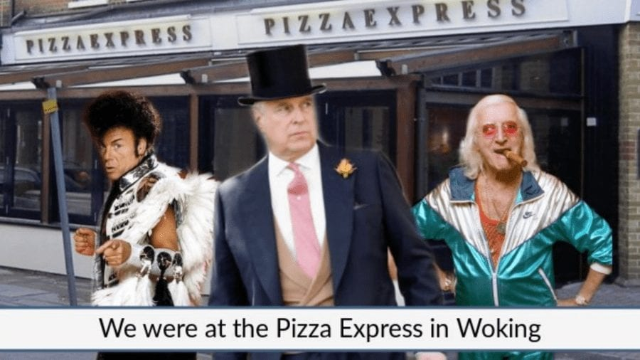 Dining With The Dorks – The House of York should just eat at home – Prince Andrew and his daughter's dining habits – and the tall tales about did-he-or-didn't-he go to Pizza Express (Woking branch) – get this dork-like pair into hot water yet again.