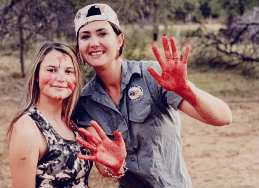 Monster of the Moment 2021 – Merelize van der Merwe – Giraffe slaying monster Merelize van der Merwe posed with its heart after being given the chance to slay one as a Valentine's Day present.