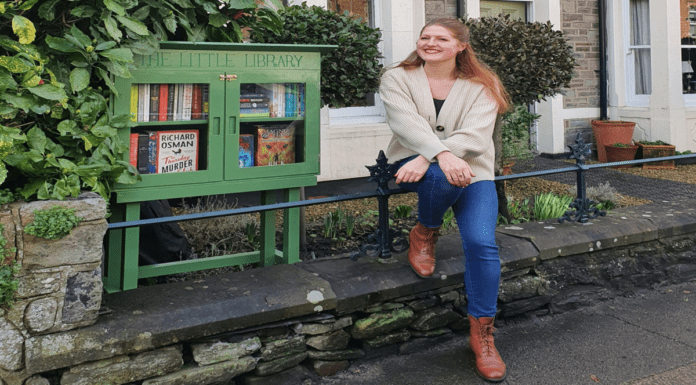 Heroine of the Hour 2021 – Olivia Clements – Book exchange – Bookseller Olivia Clements deserves commendation for setting up a free book exchange in her garden during 'Lockup 3.0' in Bristol.