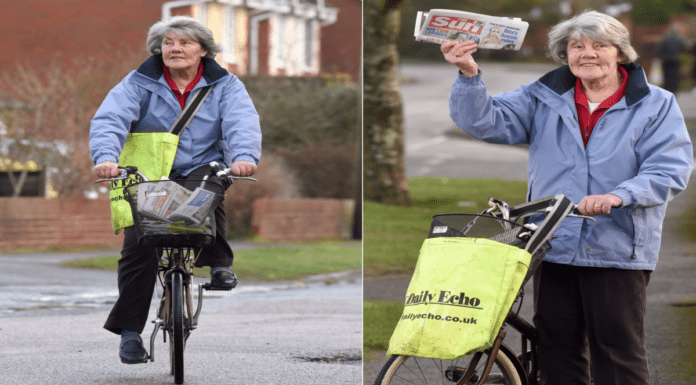 Heroine of the Hour 2021 – Pauline Bridge: Granny papergirl on a bike – 82-year-old granny Pauline Bridge gets up at 5am daily to deliver newspapers on her bicycle; she's quite the contrast to bicycling pensioner and funeral crasher Theresa Doyle.