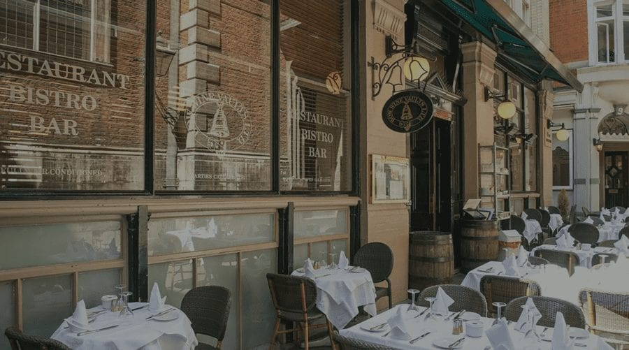 Confidence In The City 2021 – Bow Wine Vaults terrace reopens – As the City of London Corporation's Catherine McGuinness shares confidence about office space in the city, the Bow Wine Vaults, 10 Bow Churchyard, London, EC4M 9DQ announces its terrace is reopening from 12th April.