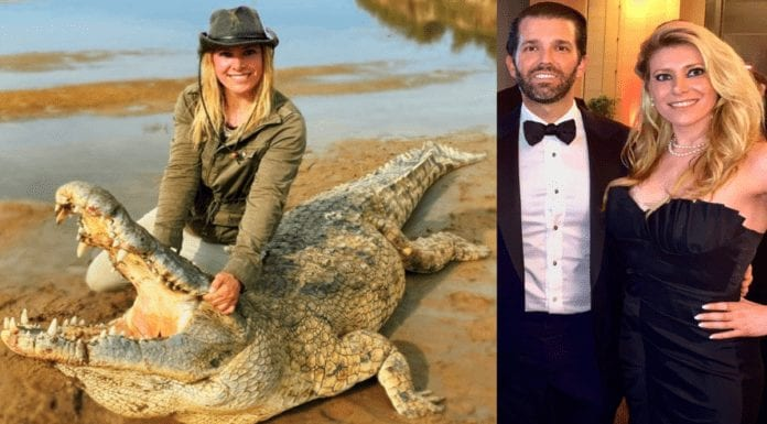 """Switlyk's Crocodile Calamity 2021 – Larysa Switlyk kills crocodile – 'Mirror' joins 'The Steeple Times' in condemning trophy hunting trash bag Larysa Switlyk after she brags about """"shopping for a new purse"""" whilst killing a 60-year-old crocodile."""