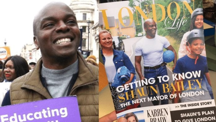 "Bombed Out Bungling Bailey 2021 – Shaun Bailey slammed again – Wannabe Mayor of London Shaun Bailey's deceptive 'London Life' called out for exactly what it is by 'This Is North Kensington' – ""An election leaflet disguised as a magazine"" (featuring 'Poundland muckspreader' Karren Brady)."