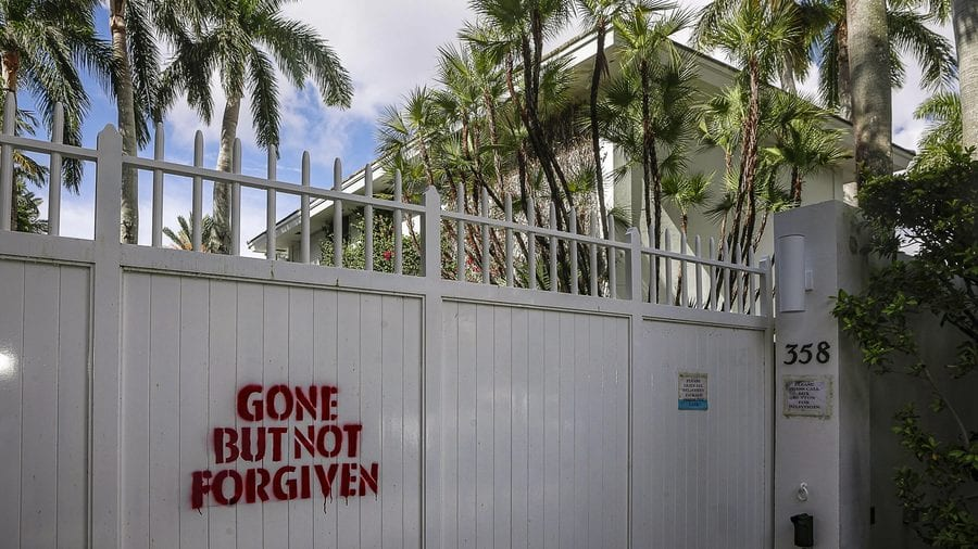 Epstein Gets The Wrecking Ball – £13m Jeffrey Epstein crib demolished – Wrecking ball sent in to destroy Prince Andrew's paedo bestie Jeffrey Epstein's £13.2 million Palm Beach mucky mansion at 358 El Brillo Way, Palm Beach, Florida, FL 33480, United States of America – Purchased by Miami developer Todd Michael Glaser.