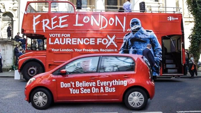 Bailey Bombs to 64/1 – Shaun Bailey Bombs to 64/1 in London mayoral election – Vote Max Fosh and Count Binface instead – As Old Harrovian wannabe Mayor of London Max Fosh photobombs his fellow Old Harrovian rival Laurence Fox, their clapped-out Conservative rival Shaun Bailey sinks to likely 3rd place at odds of 64/1.