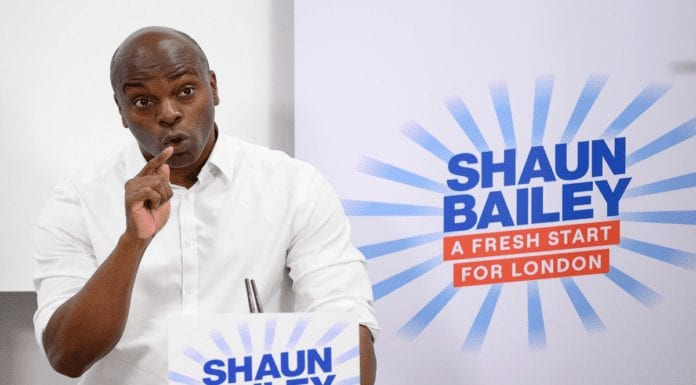 Bailey Bombs to 84/1 – Shaun Bailey no chance to be Mayor of London – Nikolay Kalinin reports wannabe Conservative Mayor of London Shaun Bailey has sunk to 84/1 on Oddschecker.com; he suggests voters back outsiders such as Max Fosh, Count Binface and Niko Omilana as a sign of protest against the ineptitude of mainstream candidates.