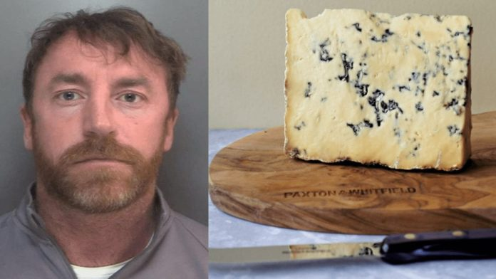 """Stung by Stilton, Done by Detail 2021 – Stilton conviction – Liverpool drug dealer Carl Stewart sent down after sharing an image of a block of Marks & Spencer mature blue stilton in the palm of his hand is a reminder of the curious case of Max Clifford and his """"short penis."""""""