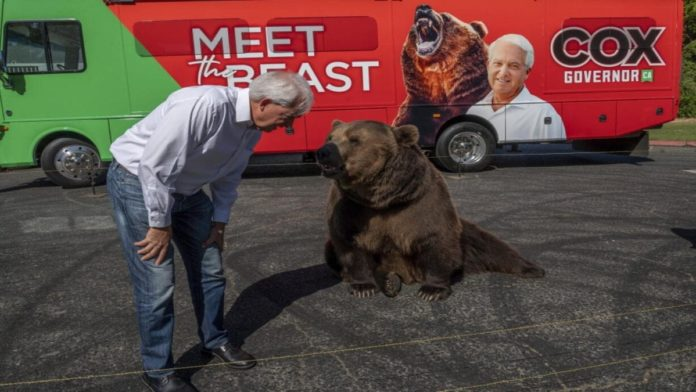Moron of the Moment 2021 – John H. Cox – Bear abusing Republican wannabe Governor of California John H. Cox deserves to be sanctioned for his senseless stunt in San Diego.