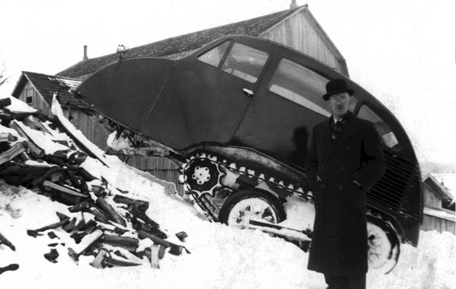 A Blizzard Busting Bombardier – B-7 snowmobile to be auctioned – Bonhams to auction an early B-7 snowmobile created by Joseph-Armand Bombardier after he lost his son in a blizzard for just under £30,000 reports Nikolay Kalinin – Circa 1940 Bombardier B-7 snowmobile to be sold by Bonhams at their Amelia Island Auction on 20th May 2021 at Fernandina Beach Golf Club, Florida with an estimate of £21,700 to £29,000 ($30,000 to $40,000, €25,000 to €33,300 or درهم110,200 to درهم146,900).