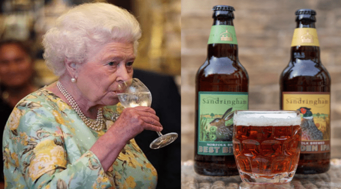 Brenda's Brew – Her Majesty The Queen launches two beers – Her Majesty The Queen launches two home brewed bitters just as it is announced that drinkers have drunk stocks nigh on dry in the wake of 'unlockdown' – 4.3% Sandrigham Best Bitter and the 5% Sandringham Golden IPA pale ale been produced by Barsham Brewery, Fakenham, Norfolk for the Sandringham Estate, Norfolk, PE35 6EN – Priced at £3.99 per bottle.
