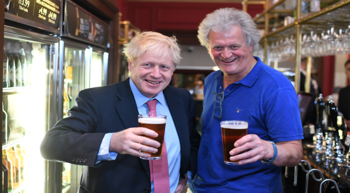 A Wetherspoons Washout 2021 – No shows at Wetherspoons pubs – On 'Unlockdown Day 2021' the Truro branch of Wetherspoons was still empty; given its owner Tim Martin's joy in banning just about everything, could anybody be surprised?
