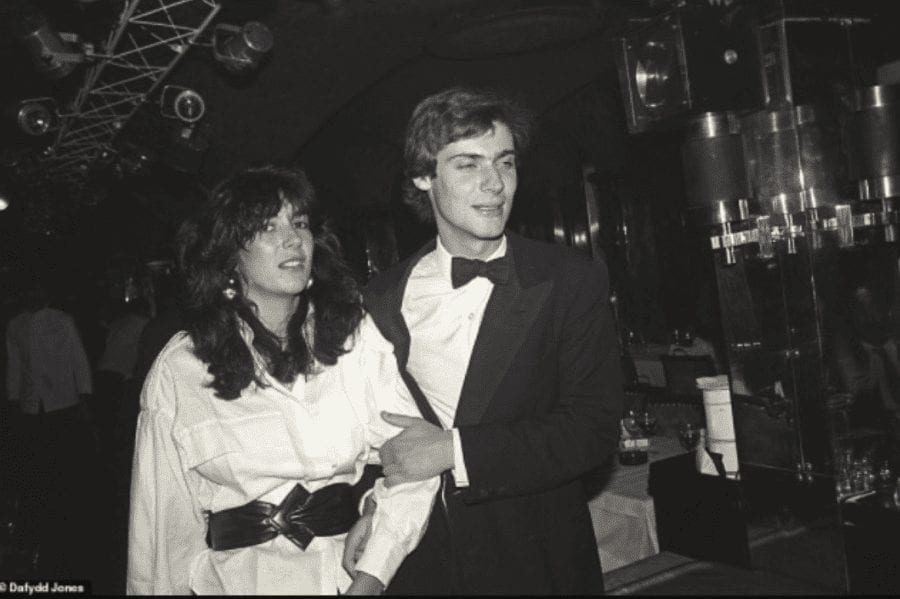 David Faber and Ghislaine Maxwell in the 1980s