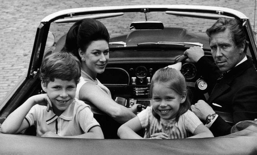 Phone Home - Anthony Armstrong-Jones, 1st Earl of Snowdon in the car seat with his then wife, Princess Margaret, and children David Armstrong-Jones, Viscount Linley and Lady Sarah Armstrong-Jones (later Lady Sarah Chatto).