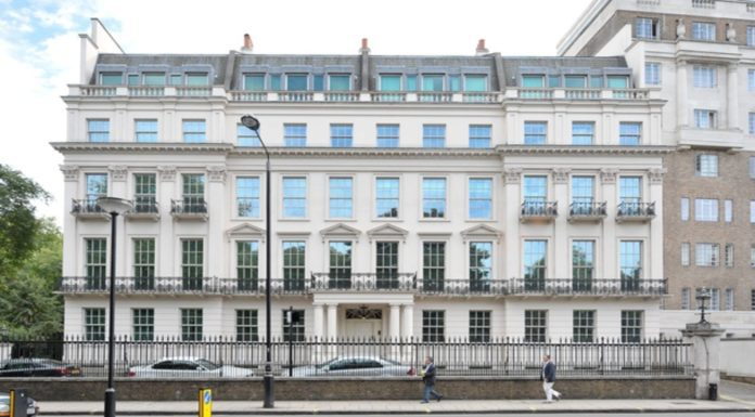 2 – 8a Rutland Gate, London, SW7 1AY front 62,000 square foot McMansion