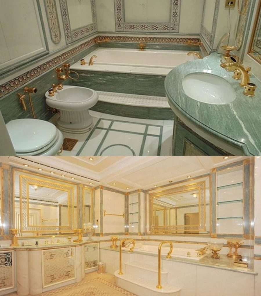 The 62,000 Square Foot McMansion – Amongst items removed were 24 marble bathrooms and Murano glass chandeliers.