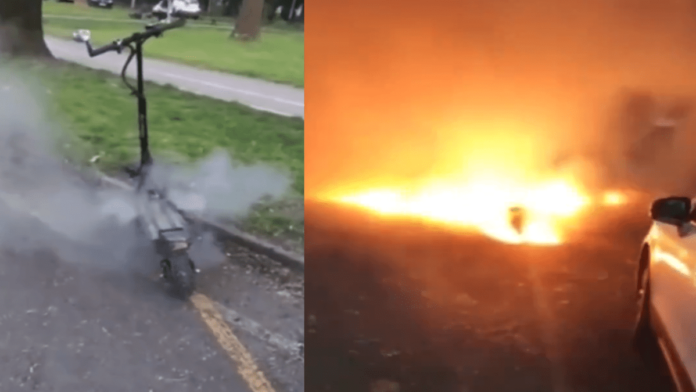 E-scooter explosion