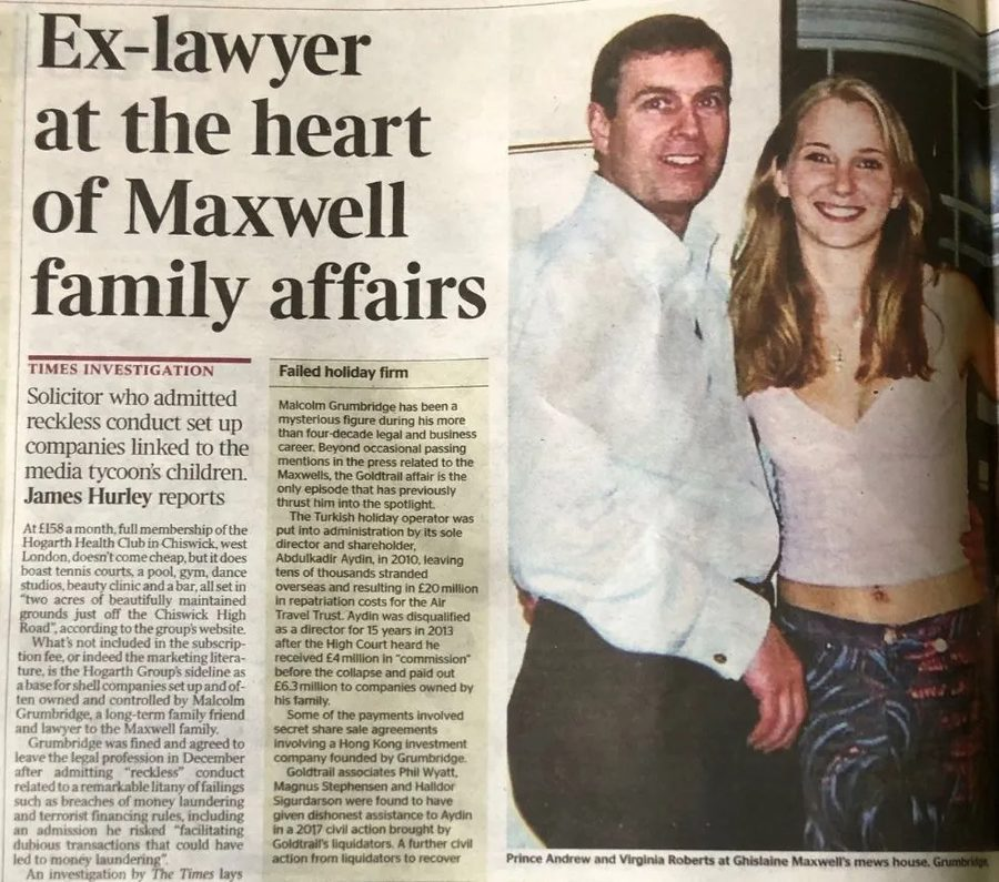 Times Maxwell family investigation