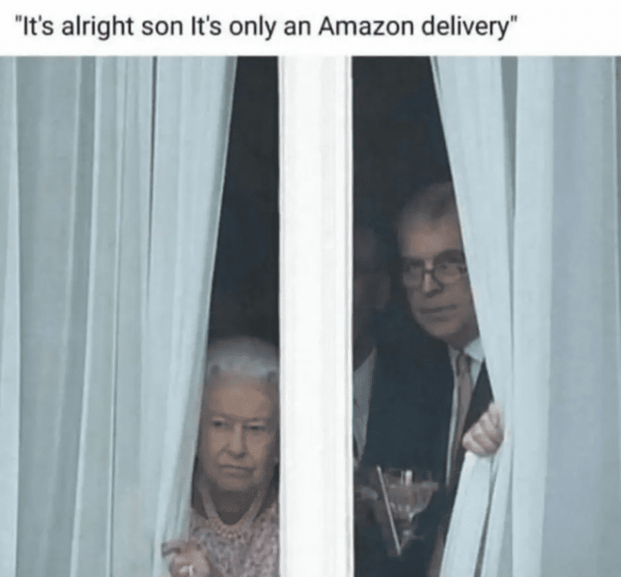 Prince Andrew Queen Amazon delivery